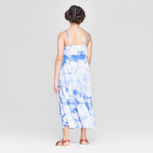 617d72c458f Girls  Tie Dye Woven Maxi Dress - Cat   Jack™ Blue   Target