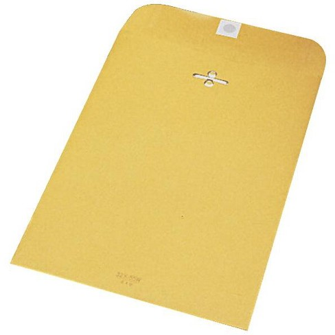 School Smart Kraft Envelope with Clasp, 7-1/2 x 10-1/2 Inches, pk of 100 - image 1 of 1