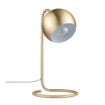 "15"" Richmond Desk Lamp with Inner Shade Matte Brass - Globe Electric"