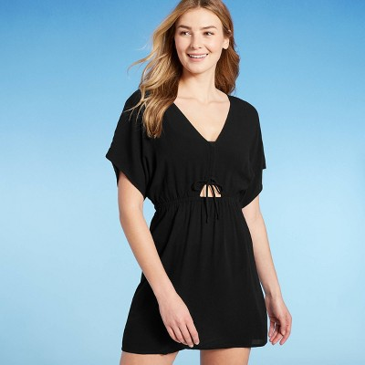 Juniors' Cinch-Front Mini Cover Up Dress - Xhilaration™
