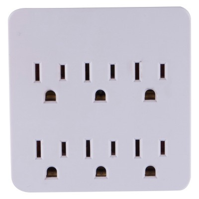6-Outlet Surge Protector Charging Station - General Electric