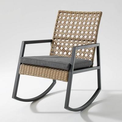 Modern Patio Rattan Rocking Chair - Saracina Home