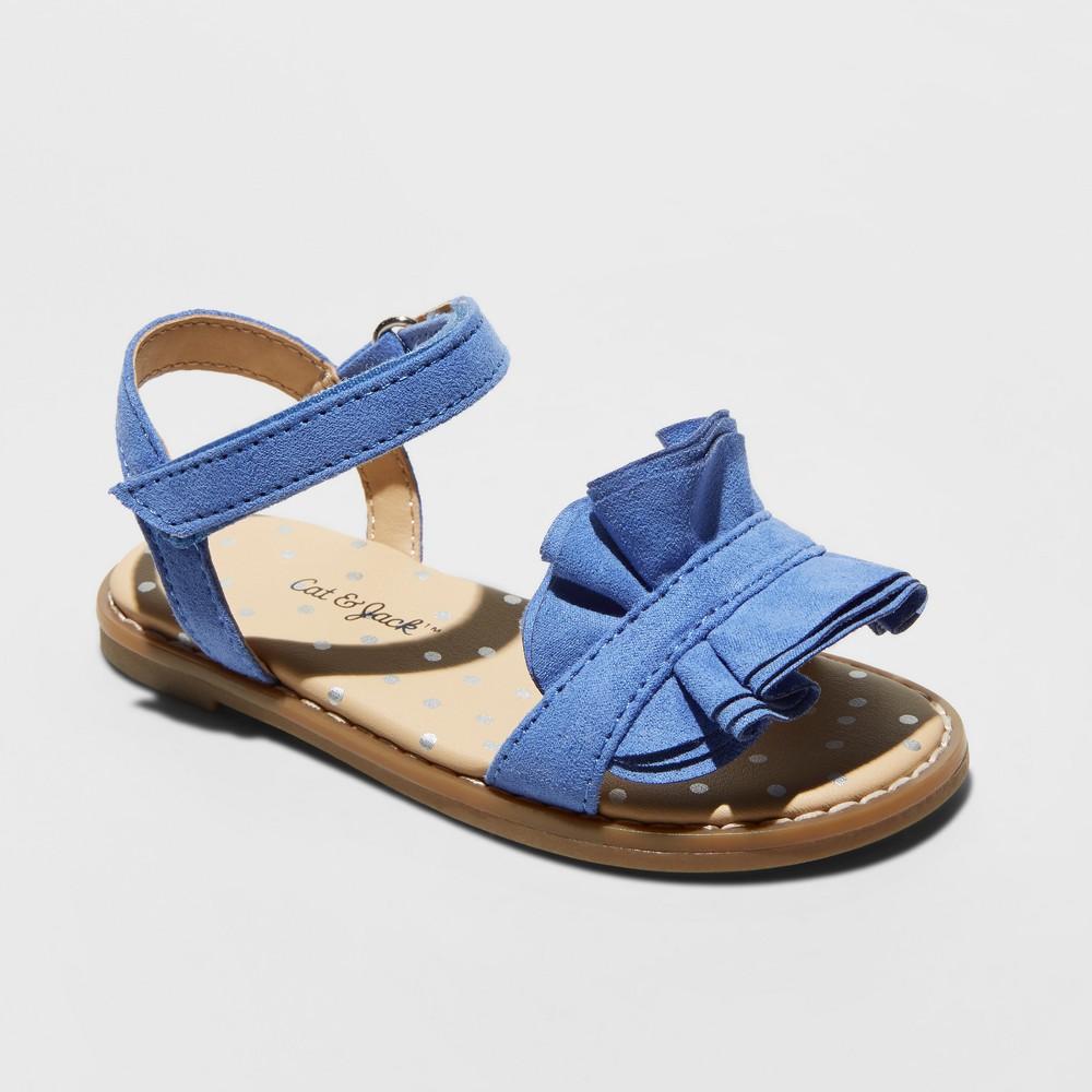 Toddler Girls' Camilla Slide Sandals - Cat & Jack Blue 12