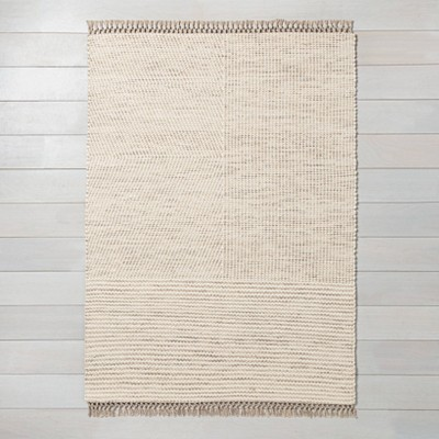 7' x 10' Heathered Area Rug Oatmeal - Hearth & Hand™ with Magnolia