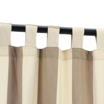 Pawleys Island Sunbrella Outdoor Gazebo Tabbed Striped Curtain Panel
