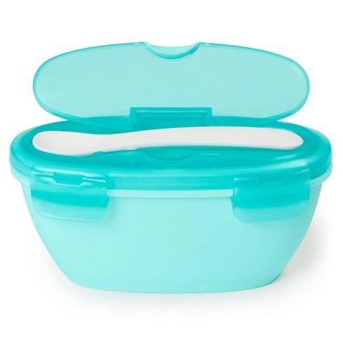 Skip Hop Easy-Serve Travel Bowl & Spoon - Teal - image 1 of 4