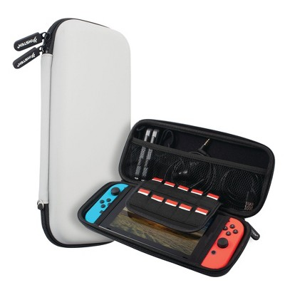 Insten Carry Case for Nintendo Switch - Portable Hard Shell Travel Pouch for Console & Accessories, Gray