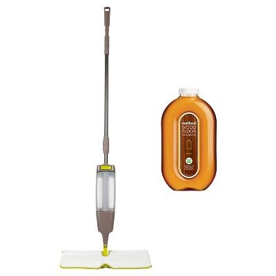 Casabella Flip 'n Spray + Method - Wood Floor Cleaner Mop