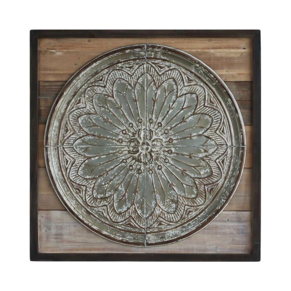 Wood and Tin Wall Décor, Silver