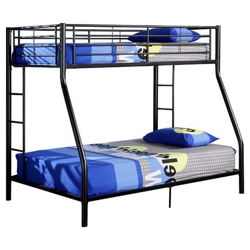 7d6e97981fe2 Premium Metal Twin over Full Bunk Bed - Black - Saracina Home   Target