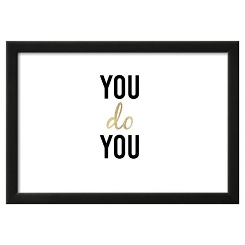 """Golden Quote II by Anna Hambly Framed Poster 19""""x13"""" - Art.Com - image 1 of 3"""
