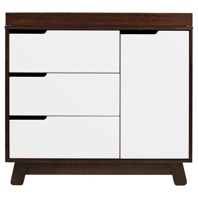 Babyletto Hudson 3-Drawer Changer Dresser with Removable Changing Tray - Espresso/White