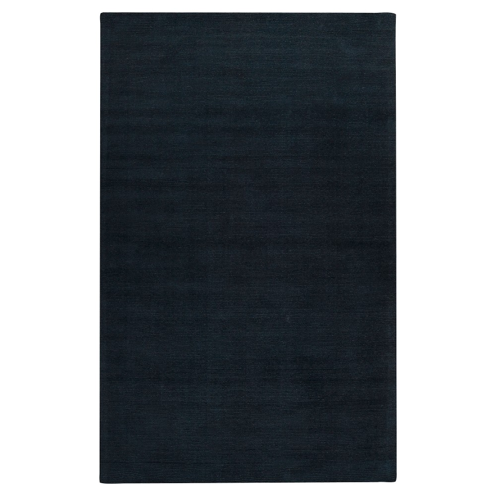 Black Abstract Loomed Accent Rug - (3'3