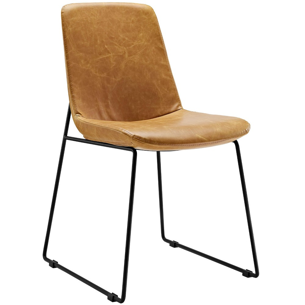 Invite Dining Side Chair Light Brown - Modway
