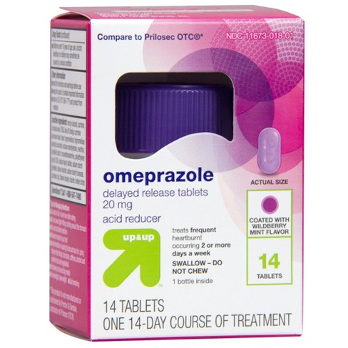 Omeprazole Acid Reducer Tablets - Wild Berry - 14ct - Up&Up™