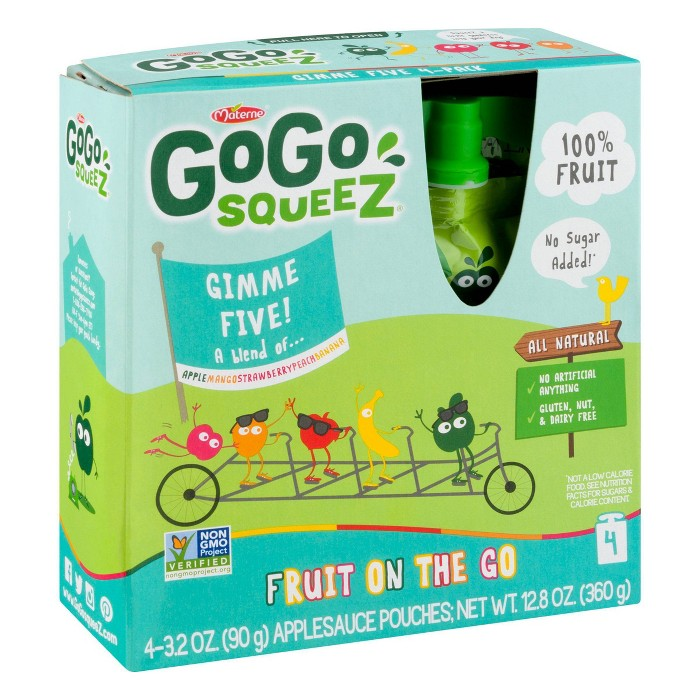 Gogo Squeez Applesauce On The Go Mixed Fruits Pouches 4ct - 3.2oz - image 1 of 6
