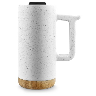 Ello 16oz Ceramic Aspen Travel Mug White