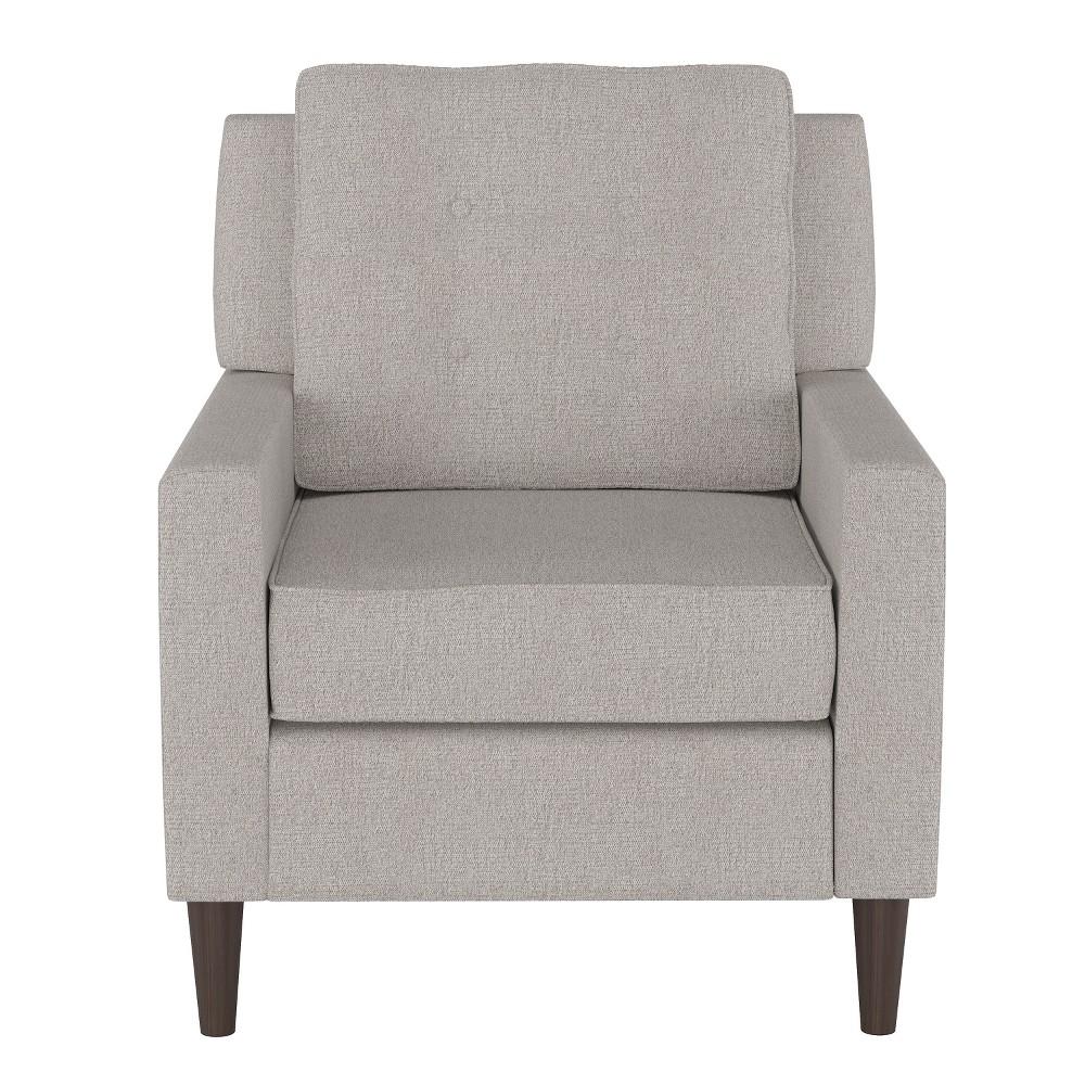 Custom Upholstered Arm Chair Light Gray - Skyline Furniture