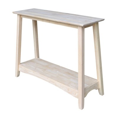Shaker Console Table Unfinished - International Concepts