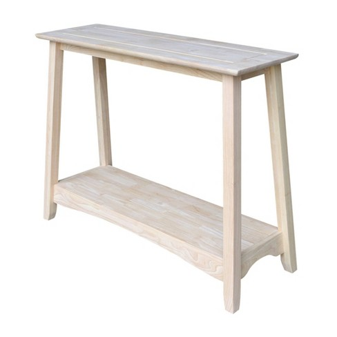 Shaker Console Table Unfinished International Concepts