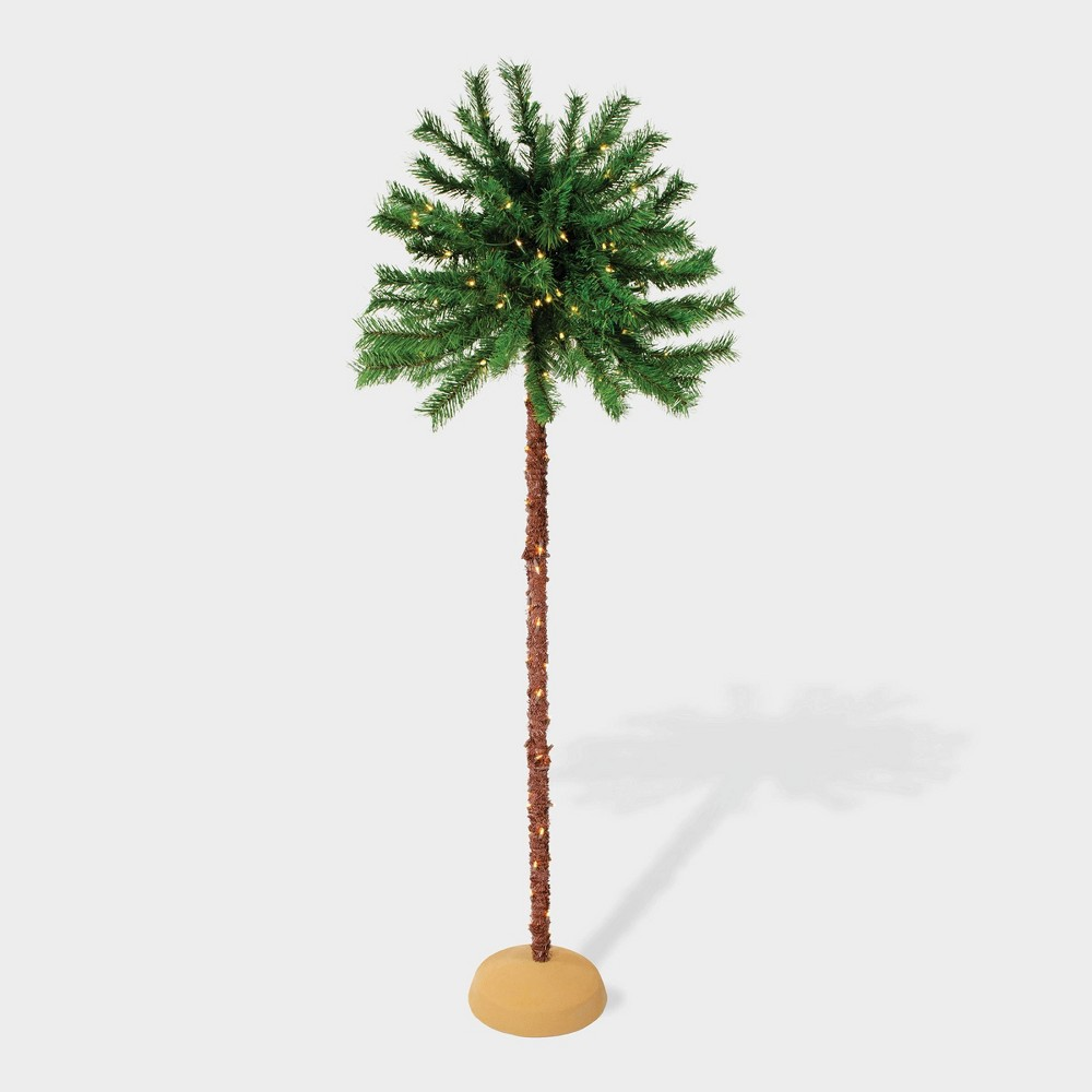 Image of 6' Pre-lit Artificial Palm Tree - Puleo