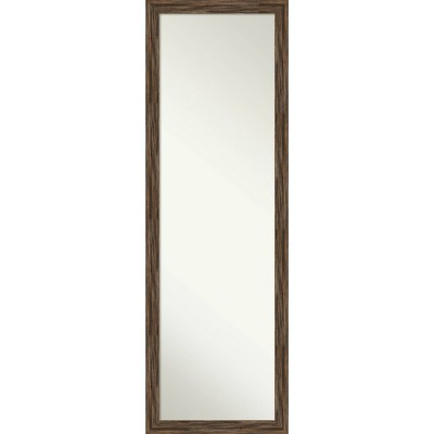 """17"""" x 51"""" Regis Narrow Framed Full Length on the Door Mirror - Amanti Art"""