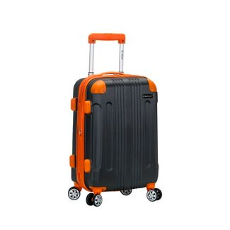 """Rockland Sonic 20"""" Expandable Hardside Carry On Spinner Suitcase - Charcoal"""