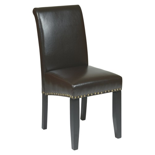 Parsons Nailhead Trim Dining Chair Espresso - OSP Home Furnishings, Brown