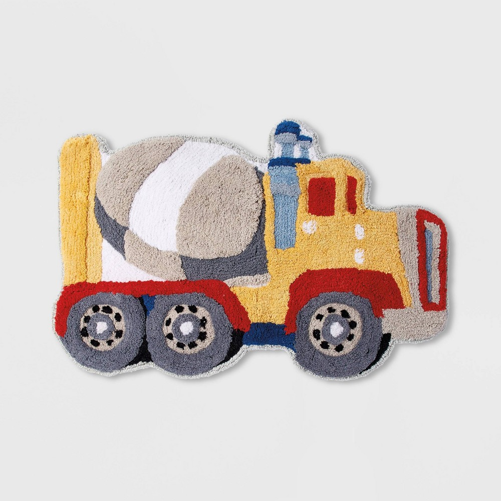 Image of Trains and Trucks Bath Rug - Dream Factory