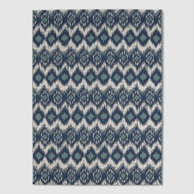 6' x 9' Ikat Cool Outdoor Rug Blue - Threshold™