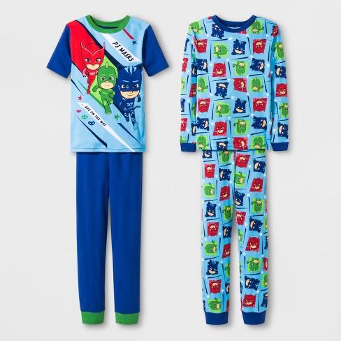 e862af748 Boys  PJ Masks 4pc Pajama Set   Target