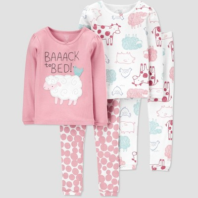 Toddler Girls' 4pc Sheep Pajama Set - Just One You® made by carter's 2T