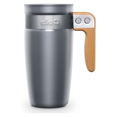 Ello Fulton Ceramic Coffee Travel Mug 16oz - Gray