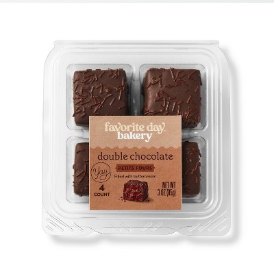 Double Chocolate Petit Fours - 3oz/4ct - Favorite Day™