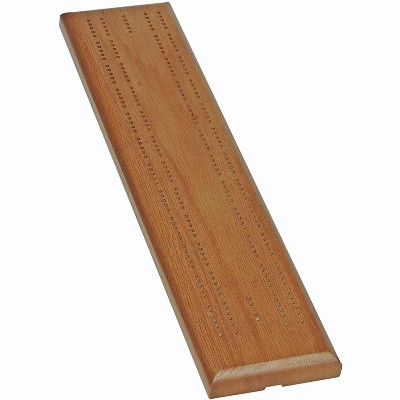 WE Games Competition Cribbage Game - Solid Wood Sprint 2 Track Board with Metal Pegs