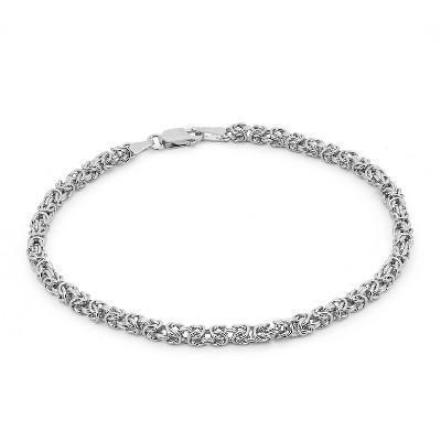 Tiara Sterling Silver Byzantine Bracelet