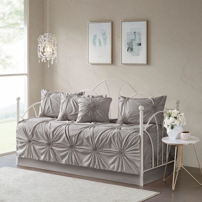 6pc Lucita Daybed Cover Set Dark Gray