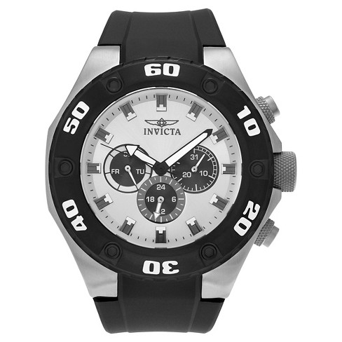 Men's Invicta 21403 Specialty Quartz Multifunction Silver Dial Strap Watch - Black - image 1 of 3