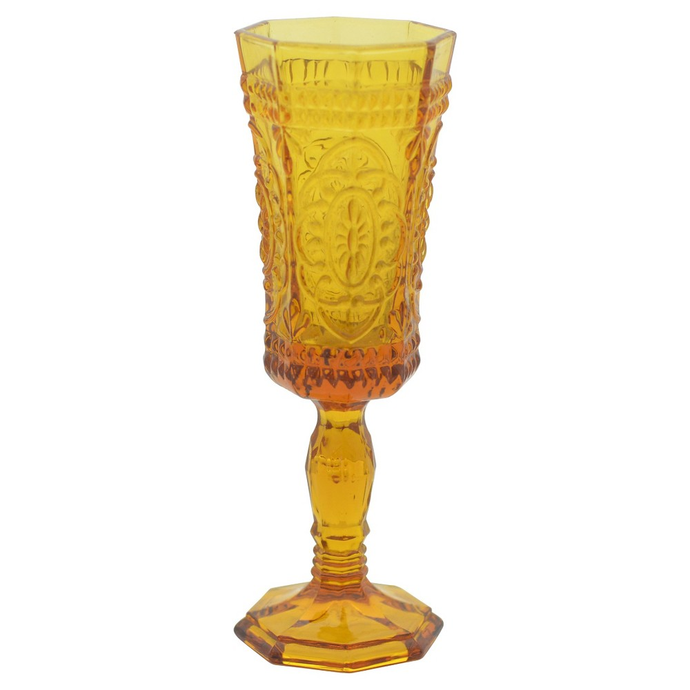 Image of 10 Strawberry Street 4oz 6pk Champagne Flutes Amber