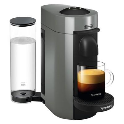 Nespresso Vertuo Plus Coffee and Espresso Machine Gray by De'Longhi