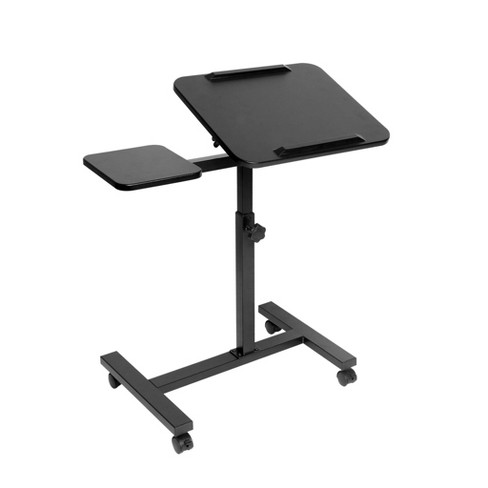 Airlift Xl Sit/Stand Computer Desk Cart with Mouse Pad Table Black - Seville Classics - image 1 of 4