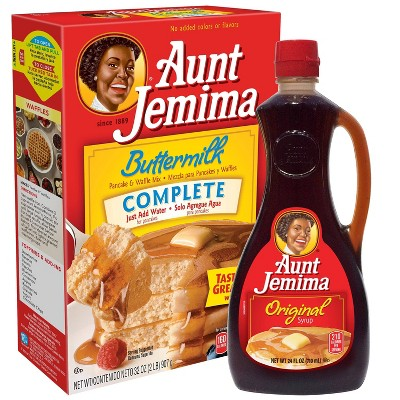 Aunt Jemima Buttermilk Pancake & Waffle Mix and Syrup Bundle