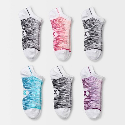 Women's Lightweight Ombre 6pk No show Athletic Socks - All in Motion™ 4-10
