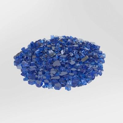 Sapphire Blue Reflective Fire Glass - Fire Sense
