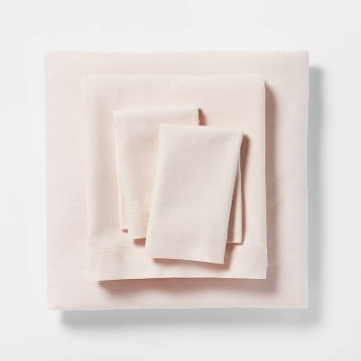 King Linen Blend Sheet Set Belle Pink - Threshold™