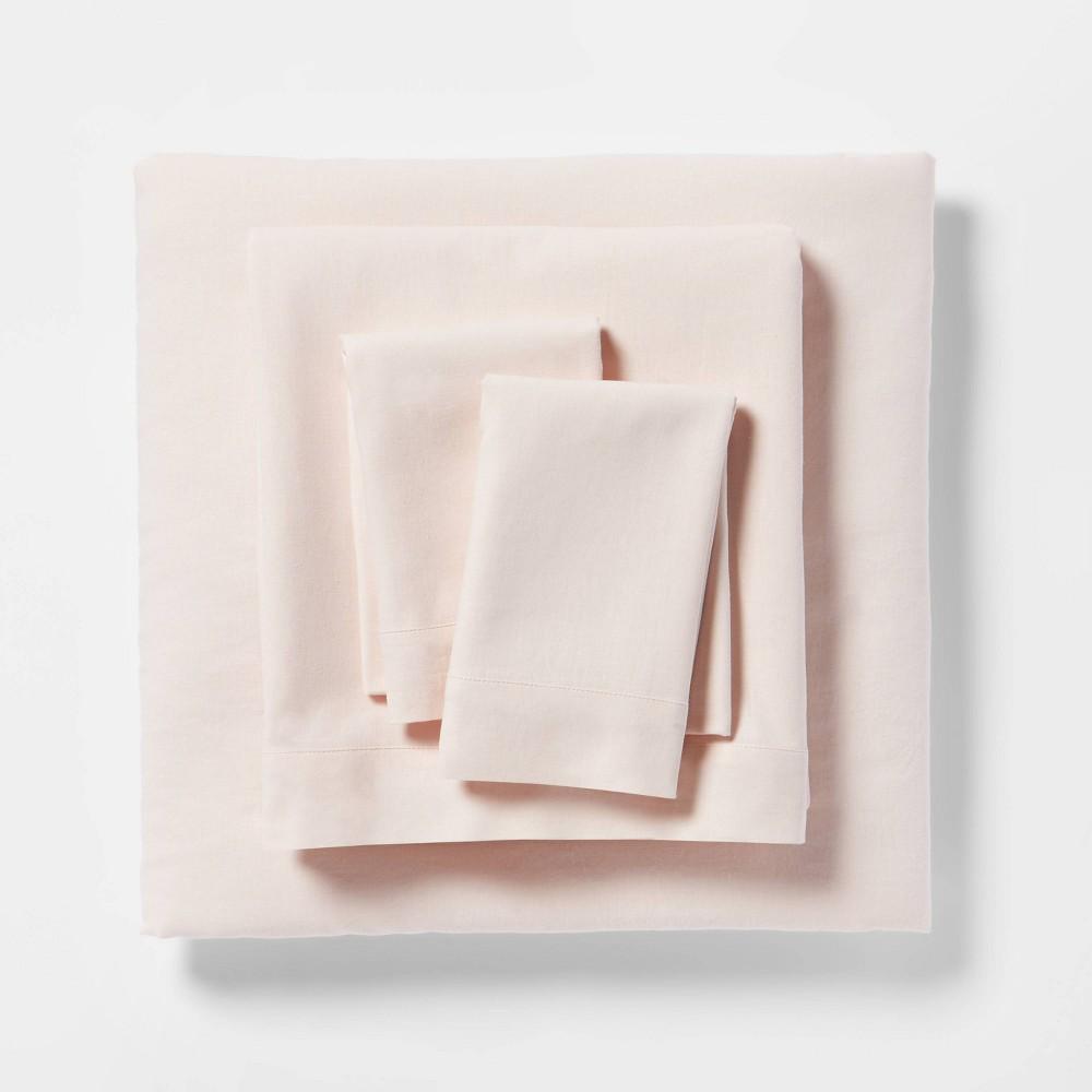 Full Linen Blend Sheet Set Belle Pink Threshold 8482