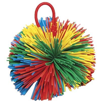Sportime Rub-R-String Ball, 3-1/2 Inches, Multicolored