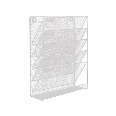 Mind Reader Hanging Wall File Organizer, 6 Compartment