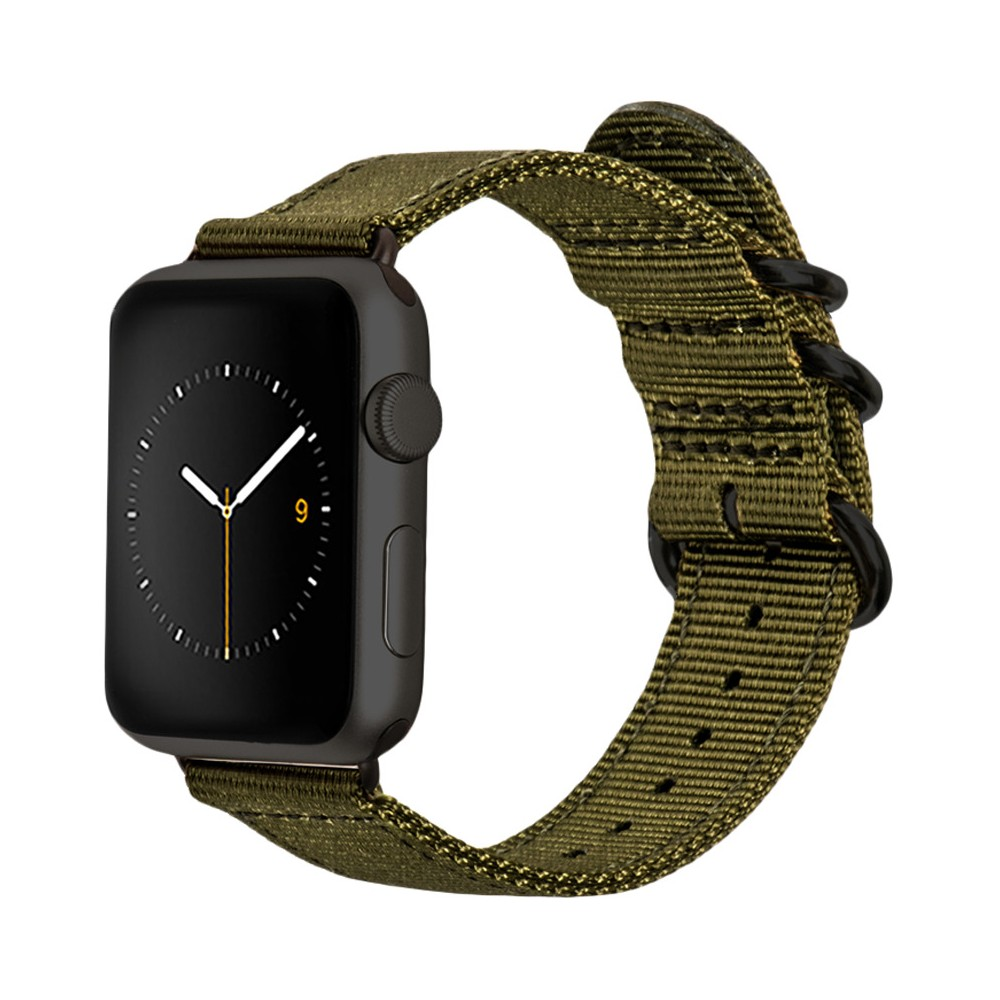 Monowear Green Nylon Band Dark Gray Stainless Steel Adapter For 42Mm Apple Watch Sport Space Gray - Green ( 8132150 ), Adult Unisex