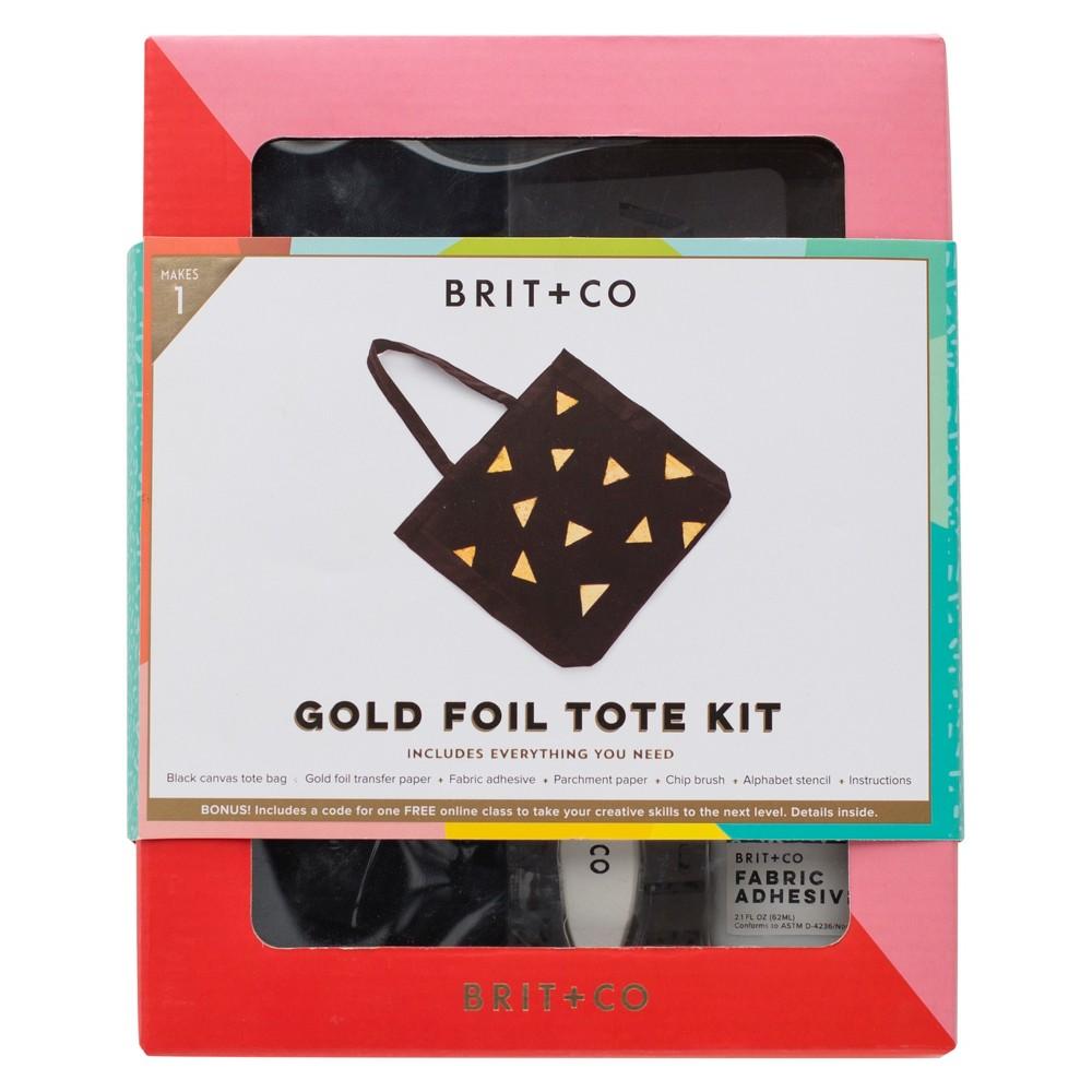 Brit + Co Gold Foil Tote Kit, Women's